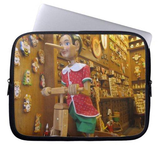 Laptop Sleeve--Pinocchio Doll