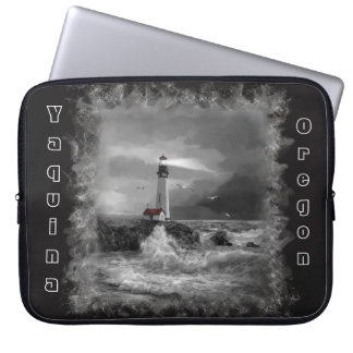 Laptop Sleeve, Seascape and Oregon Lighthouse Laptop Sleeve