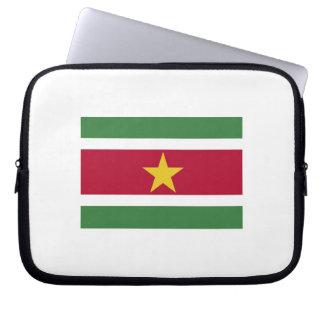 Laptop sleeve Surinamese flag.