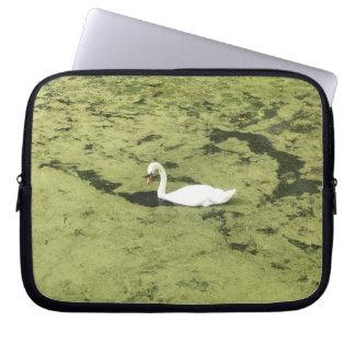 Laptop sleeve swan