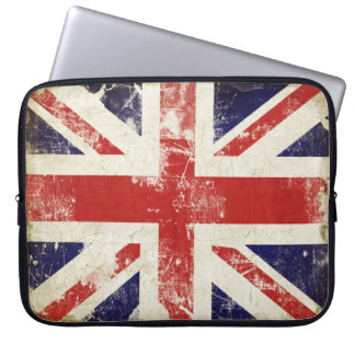 Laptop Sleeve with Distressed Great Britain Flag