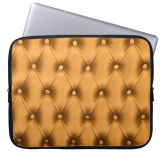 Laptop Sleeve with golden capitone