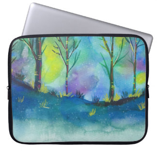 Laptop sleeves  - Forest in water color art