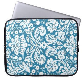 Laptop Teal Damask Pattern Laptop Sleeve