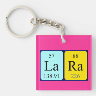 Lara periodic table name keyring