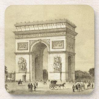 L'Arc de Triomphe, Paris, engraved by Auguste Bry Drink Coaster