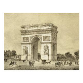 L'Arc de Triomphe, Paris, engraved by Auguste Bry Postcard