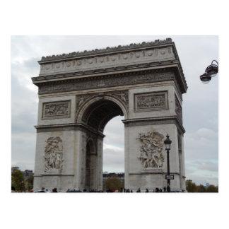 L'Arc De Triomphe Paris France Postcard