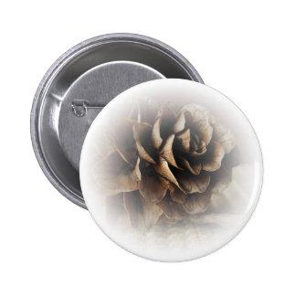 Larch Cone 6 Cm Round Badge