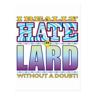 Lard Hate Face Postcard