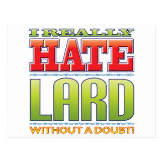 Lard Hate Postcard