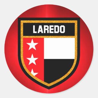 Laredo Flag Classic Round Sticker