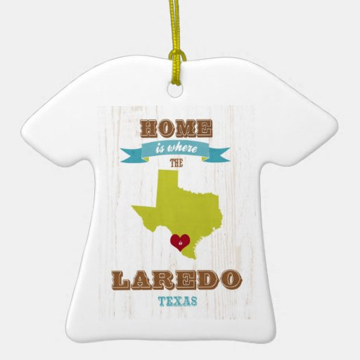 Laredo, Texas Map – Home Is Where The Heart Is Christmas Tree Ornament
