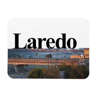 Laredo, TX Skyline with Laredo in the Sky Magnet