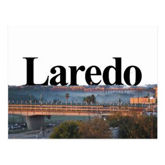 Laredo, TX Skyline with Laredo in the Sky Postcard