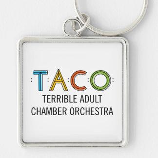 "Large (2.00"") Premium Square TACO Keychain"