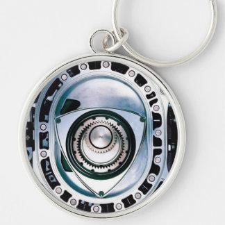 """Large (2.125"""") Premium Round Rotary Keychain"""