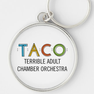 "Large (2.125"") Premium Round TACO Keychain"