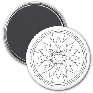 Large, 3 Inch Adult Coloring Magnet