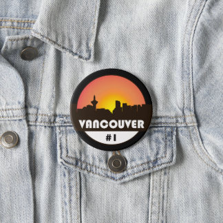 Large 3 inch button with Vancouver Canada logo