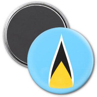 Large 3 inch magnet - Saint Lucia flag