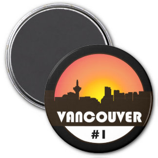 Large 3 inch magnet with Vancouver Canada logo