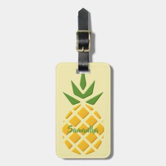 Large 3D Pineapple Luggage Tag