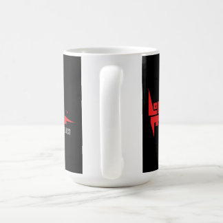Large 444 ml Mug with Red on Black Logo