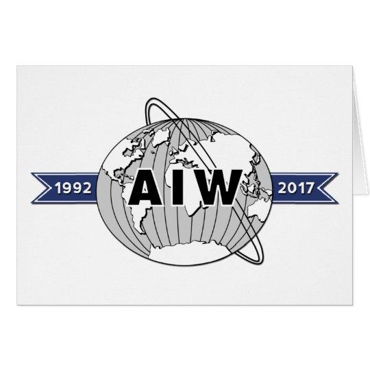 Large AIW 25th Anniversary Logo 5x7 Card