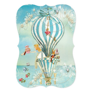 Large Alice In Wonderland DieCutParty Invitations
