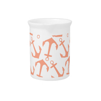 LARGE ANCHORS CORAL Theme Pitcher