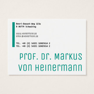 Large and bold business card