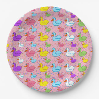 Large and Small Ducks Paper Plates