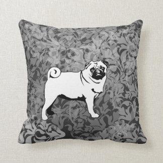 Large and small pug cushion