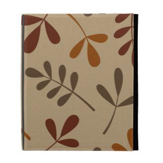Large Assorted Fall Leaves Design iPad Folio Cover