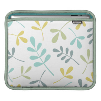 Large Assorted Leaves Color Mix on White iPad Sleeves