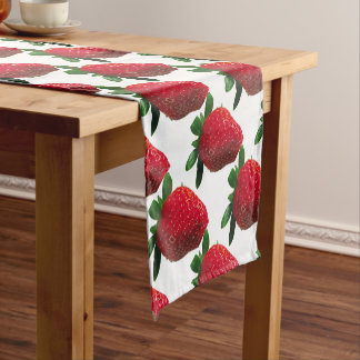 Large background short table runner