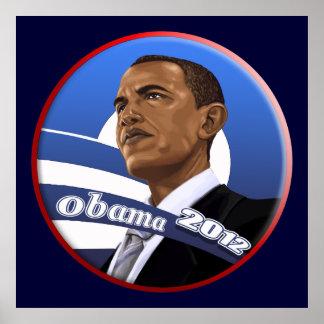 Large Barack Obama President 2012 Poster Print