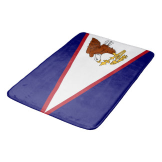 Large bath mat with flag of American Samoa, USA