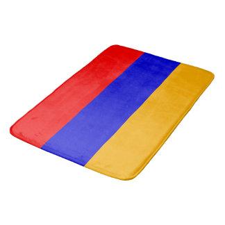 Large bath mat with flag of Armenia
