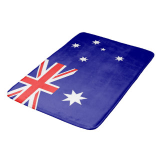 Large bath mat with flag of Australia