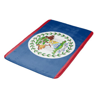 Large bath mat with flag of Belize