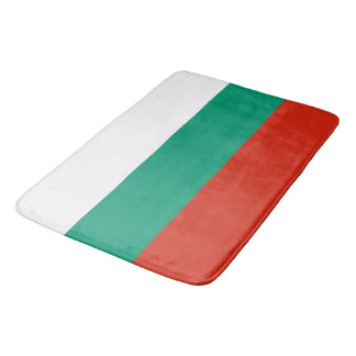 Large bath mat with flag of Bulgaria