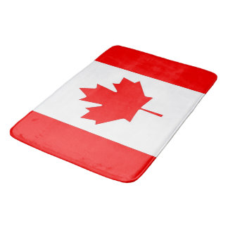 Large bath mat with flag of Canada