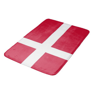 Large bath mat with flag of Denmark