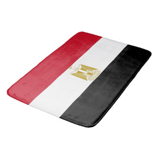 Large bath mat with flag of Egypt
