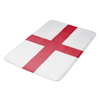 Large bath mat with flag of England