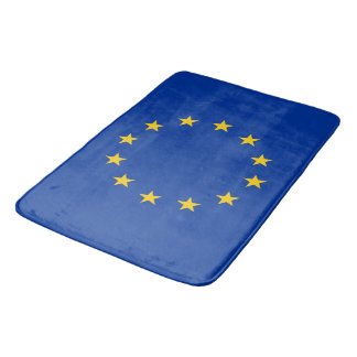 Large bath mat with flag of European Union