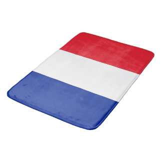 Large bath mat with flag of France
