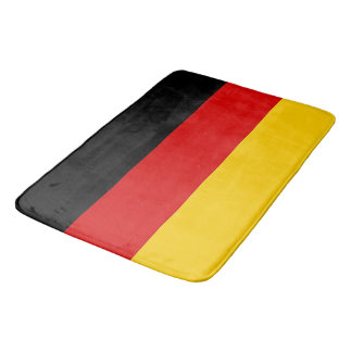 Large bath mat with flag of Germany
